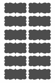 Chalkboard Label Set of 12 Wall Decals