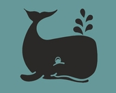 Chalkboard Whale Wall Decal