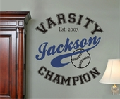 Champion Custom Personalized Wall Decal