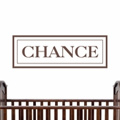 Chance Custom Personalized Wall Decal