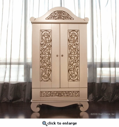Chelsea Armoire in Antique Silver