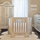 Chelsea Darling Cradle to Crib Silver