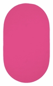 Chenille Creations Braided Rug - Bright Pink