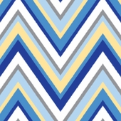 Chevron Blue Changing Pad Cover