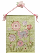 Chloe's Garden Hand Painted Canvas Banner