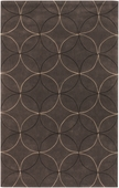 Chocolate Circles Cosmopolitan Hand-Tufted Rug