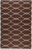 Chocolate Diamonds Fallon Hand-Woven Rug