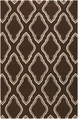 Chocolate Fancy Diamond Fallon Hand-Woven Rug