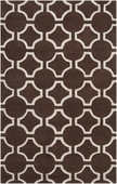 Chocolate Link Zuna Hand-Tufted Rug