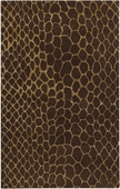 Chocolate Snakeskin Moderne Hand-Tufted Rug