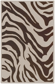 Chocolate Zebra Print Goa Hand-Tufted Rug