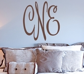 Christine's Monogram Custom Personalized Wall Decal