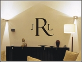 Classic Monogram Custom Personalized Wall Decal