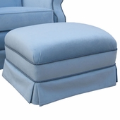 Classic Velvet Blue Adult Club Ottoman - Stationary or Glider