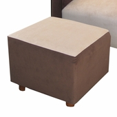 Classic Velvet Brown Child Manhattan Ottoman