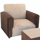 Classic Velvet Brown Child Modern Chair