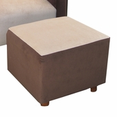 Classic Velvet Brown Child Modern Ottoman