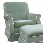 Classic Velvet Green Adult Club Glider Rocker Chair - Foam or Down