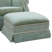 Classic Velvet Green Adult Club Ottoman - Stationary or Glider