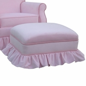 Classic Velvet Pink Adult Club Ottoman - Stationary or Glider