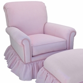 Classic Velvet Pink Adult Regent Glider Rocker Chair - Foam or Down