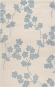 Cloud Blue Floral Zuna Hand-Tufted Rug
