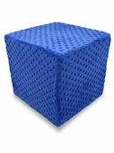 Cobalt Blue Dot Minky Foam Block