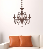 Cottage Chandelier Custom Wall Decal