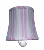 Cottage Stripe Pink Night Light