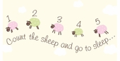 Counting Sheep Pink Canvas Wall Art