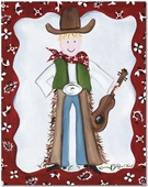 Cowboy Gallery Wrapped Stretched Giclee Canvas