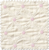 Cream Embroidered Diamonds Fabric