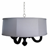 Cream Linen Drum Chandelier