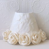 Cream Rose Petal Night Light