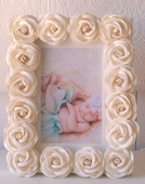 Cream Rose Picture Frame