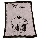 Cupcake Personalized Blanket