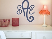 Curly Cue Monogram Custom Personalized Wall Decal
