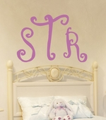 Curly Monogram Custom Personalized Wall Decal