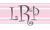 Curly Monogram Pink Personalized Canvas Wall Art