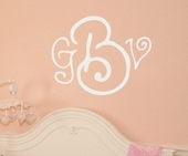 Curly Whirly Monogram Custom Personalized Wall Decal