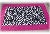 Custom Rectangle Border Rug with Animal Print