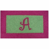 Custom Rectangle Border Rug with Monogram