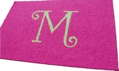 Custom Rectangle Rug with Monogram