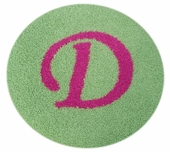 Custom Round Rug with Monogram