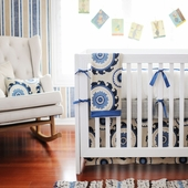 Dakota Blue 2-Piece Crib Bedding Set