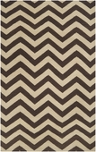 Dark Brown Chevron Frontier Hand-Woven Rug