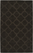 Dark Brown Quatrefoil Mystique Hand-Crafted Rug