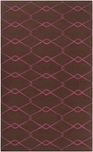 Dark Chocolate Diamonds Fallon Hand-Woven Rug