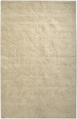 Dark Khaki Damask Sculpture Loomed Rug