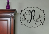 Darling Monogram Custom Personalized Wall Decal